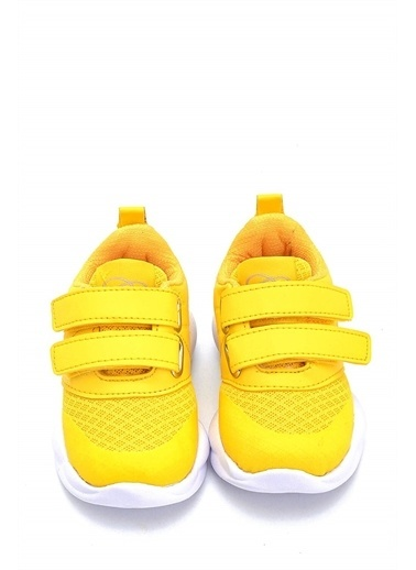 First Step Ultra Hafif Memory Foam İç Taban Çocuk Pembe Spor Ayakkabı M-1000 Sarı